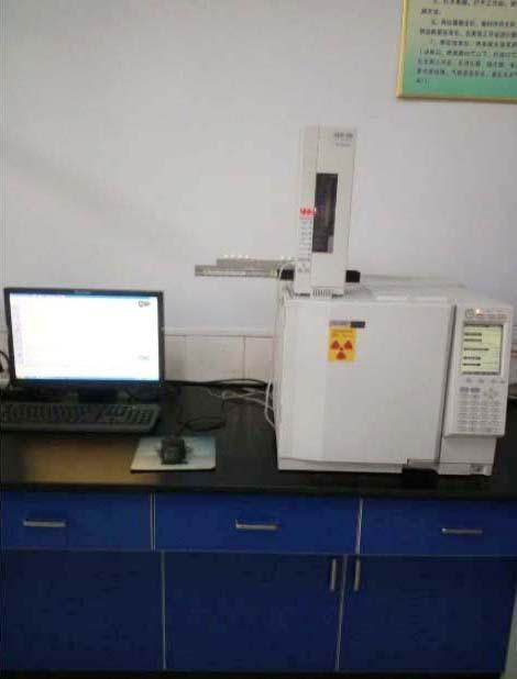 日本製 島津 ガスクロマトグラフ質量分析機(GC-MS)